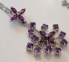 Not Enhanced White Gold Amethyst Fine Necklaces & Pendants
