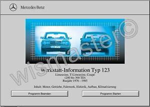 WIS Reparaturanleitung für Mercedes Benz W123 alle Modelle sofort als Download