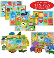 3D Baby Kids Wooden Puzzle Jigsaw Toys Educational Preschool Learning Toy UK