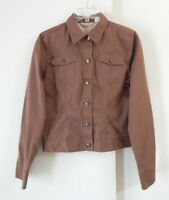 womens brown TOMMY BAHAMA jacket blazer stretch cotton casual modern S 4 6