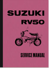 Suzuki RV 50 RV50 Reparaturanleitung Repair Manual Service Maintenance Assembly