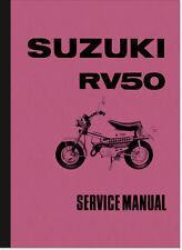 SUZUKI RV 50 rv50 MANUALE DI RIPARAZIONE REPAIR MANUAL SERVICE maintenance Assembly