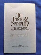 THE FANTASY SAMPLER - UNCORRECTED PROOF CLIVE BARKER'S FIRST U.S. PUBLICATION