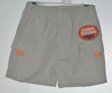 DISNEY WINNIE THE POOH Size 12 Months Brown Pull-On Cargo Shorts