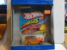 Hot Wheels 30th Anniversary Orange 40's Woodie w/Blackwall Wheels
