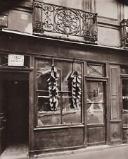 1890/1963 Vintage 11x14 SHOE STORE Market Window France Photo Art ~ EUGENE ATGET