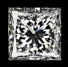 3 carat Princess cut Diamond GIA report H color VS1 clarity Excellent loose