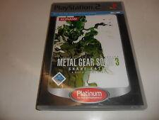 PLAYSTATION 2 PS 2 Metal Gear Solid 3: Snake Eater [Platinum]