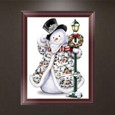 5D Diamond Embroidery Painting Christmas Snowman DIY Cross Stitch Kit Xmas Decor