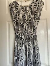 Warehouse Black And White Patterned T-shirt Dress BNWT Size 14