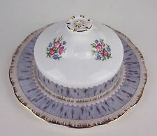COVERED BUTTER DISH Royal Albert SILVER BIRCH vintage china England