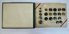 More details for vintage faux horn button sample book, carr bros leicester, 93 multi-col buttons
