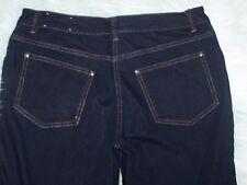 Womens Travel Smith Petites Original Fit 8P Blue Denim Jeans Mesh Pockets EUC