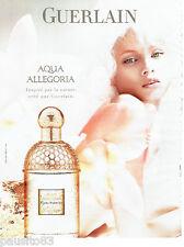 PUBLICITE ADVERTISING  026 2010  Guerlain  parfum Aqua Allegoria