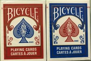 Bicycle 808 Rider Back Playing Cards / Cartes A Jouer in Red or Blue Your Choice