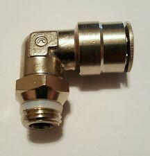 Camozzi Pneumatic Nickel Plated Brass Push Lock 90 Degree Adapter P6520 08-04
