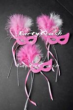 12 Pink Small Mini Masquerade Mask Wedding Sweet 16 Party Decoration Favors