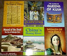 HOUGHTON MIFFLIN 4th GRADE 4 READER HISTORY Answer Key HOMESCHOOL LOT 6 READERS