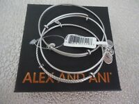 Alex and Ani SET OF 3 Russian Silver Wire Bangles New W/ Tag Card & Box
