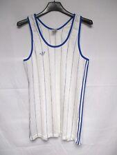 Débardeur Maillot ADIDAS vintage années 80 trikot camiseta jersey shirt blanc XS
