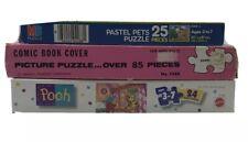 Lot of 3 Vintage Children's puzzles, 24-85 pieces