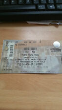 Meat Loaf unused concert ticket  Block D3 Row 16 Nov 2007