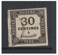 France - 1871/7, 30c Postage Due (4 Margins) - F/U - SG D213