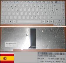 Teclado Qwerty Español LG LW40 M1 R1 serie HMB434EA 3823B00306A Blanco / blanco