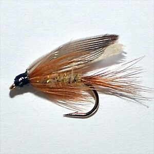 Gold Ribbed Hares Ear Trout & Grayling Wet Fly fishing flies by Dragonflies