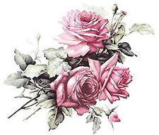 VinTaGe ImaGe Xl BeSt PinK CaBbaGe RoSeS ShaBby WaTerSliDe DeCals FurNiTuRe SiZe