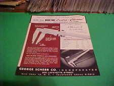 VINTAGE LUSTRO CHROME TOOLMAKERS CALIPER ADVERTISEMENT BROCHURE GEORGE SCHERR CO