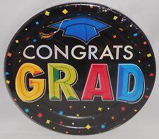 """Graduation Plates 8 Ct. 8-3/4""""  CONGRATS GRAD"""