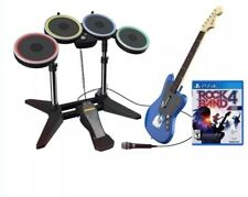 Rock Band 4 Rivaux Band Kit Bundle Drums Guitar Microphone pour PS4