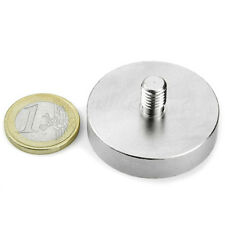 Super Magnete al Neodimio GTN-40 POTENZA 45 Kg GAMBO FILETTATO M8 da avvitare