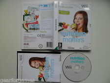 NINTENDO WII PAL GAME NUTRITION MATTERS TESTED