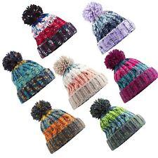 8da30e4bf83 BB486 Beechfield Corkscrew Pom Pom Beanie Hat - Winter Bauble Hat
