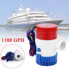 12V 1100GPH Eau Marine Pompe de Cale Submersible Yacht Bateau Boat Bilge Pump