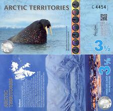 Arctic Territories 3½ Polar Dollars Fun-Fantasy Note 2014 Walrus North Pole