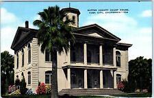 YUBA CITY, CA  California   Sutter County COURT HOUSE  c1940s Linen   Postcard