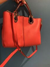 Tom & Eva Womens Bag Red/Orange Side Bag Handbag Evening Bag