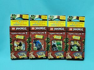 Lego® Ninjago™ Serie 6 Die Insel Trading Card alle 4 Blister mit LE24-27