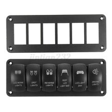 6 Way Aluminum Rocker Switch Panel Housing Holder for RV ARB Carling Car Boat