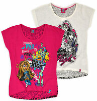 Girls T-Shirt Tops Official Monster High Sold As A 2 Pack 7-14 Years 87690