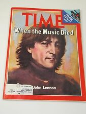 Time Magazine- John Lennon-When the Music Died- December 22, 1980