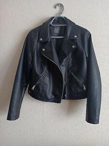 Faux leather biker jacket 14