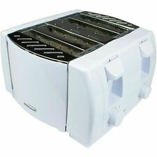Brentwood Ts-265 Cool Touch 4 Slice White Kitchen Toaster