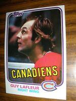1981-82 Topps #19 Guy LaFleur  Montreal Canadiens NrMt