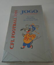 1991 Jogo Incorporated CFL Football Factory Sealed Box Limited Print Stamp Cards