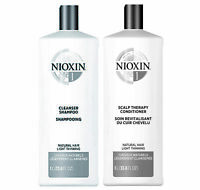 NIOXIN System 1 Cleanser Shampoo & Scalp Therapy Conditioner 33.8oz Duo Set