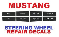 2010 2011 2012 Ford Mustang Steering Wheel Control Button Repair Decals